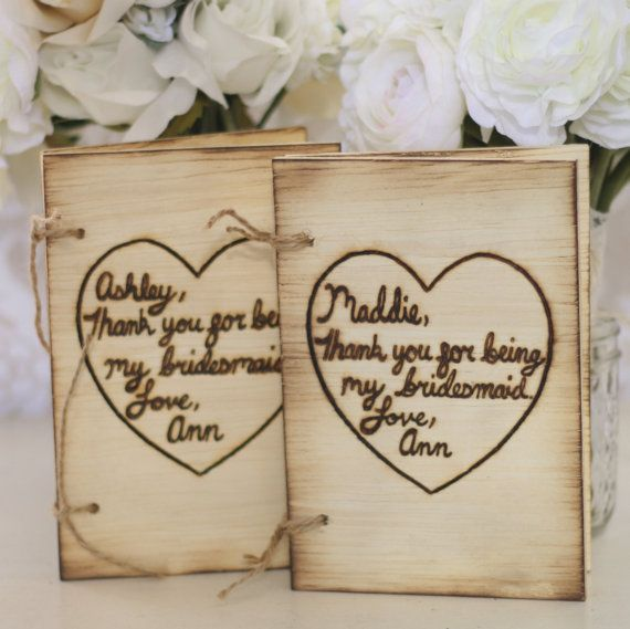 Personalized Bridesmaid Gift Rustic Book Journal by braggingbags, $120.00