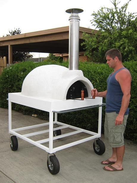 Mobile, Trolley Mounted Wood Fired Pizza Oven For Sale