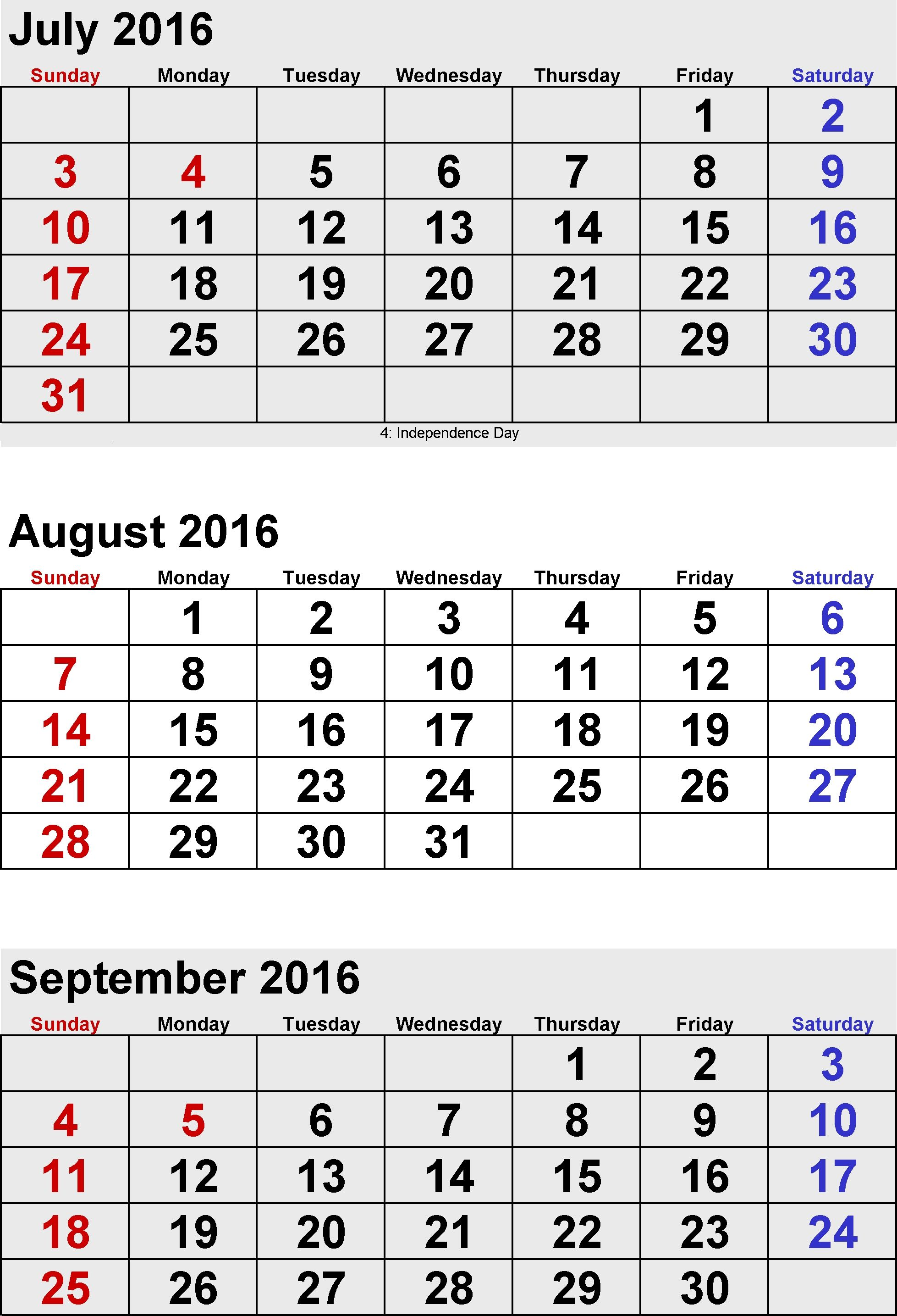 Pick August And Septmber Calendar Together With Images July