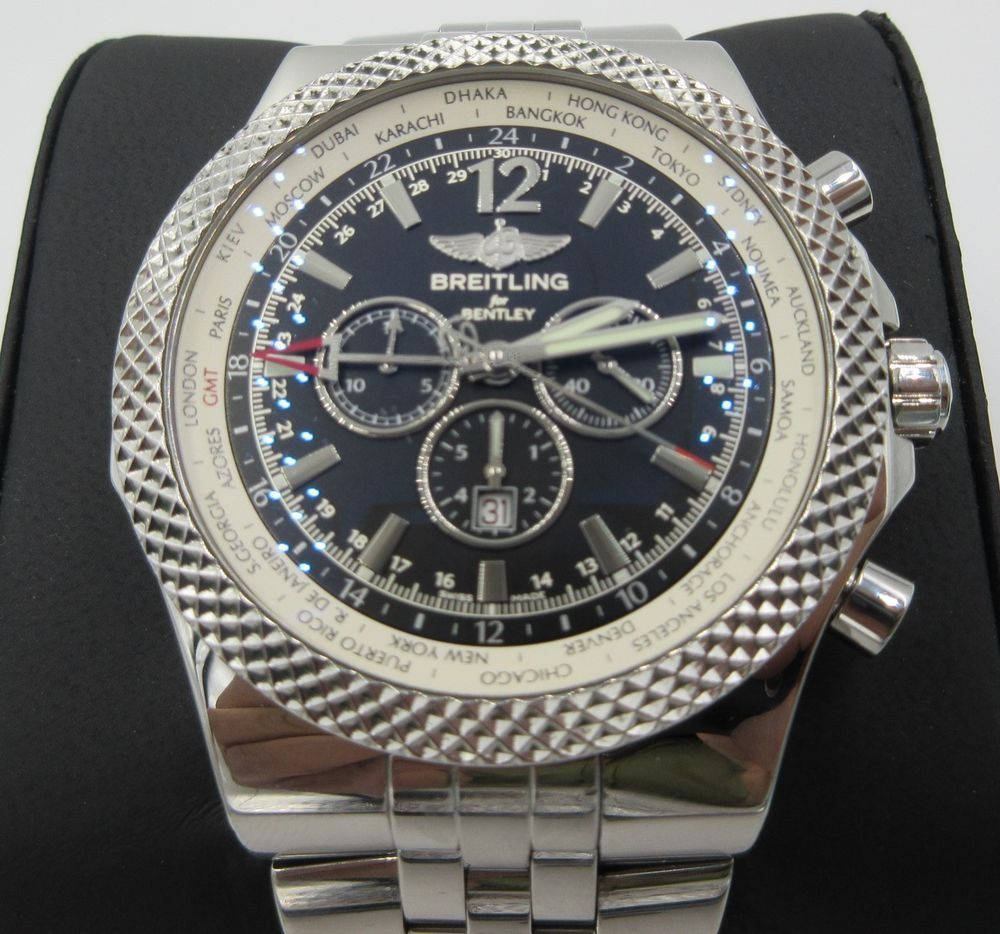 MEN'S BREITLING BENTLEY GMT 49MM STAINLESS STEEL A47362
