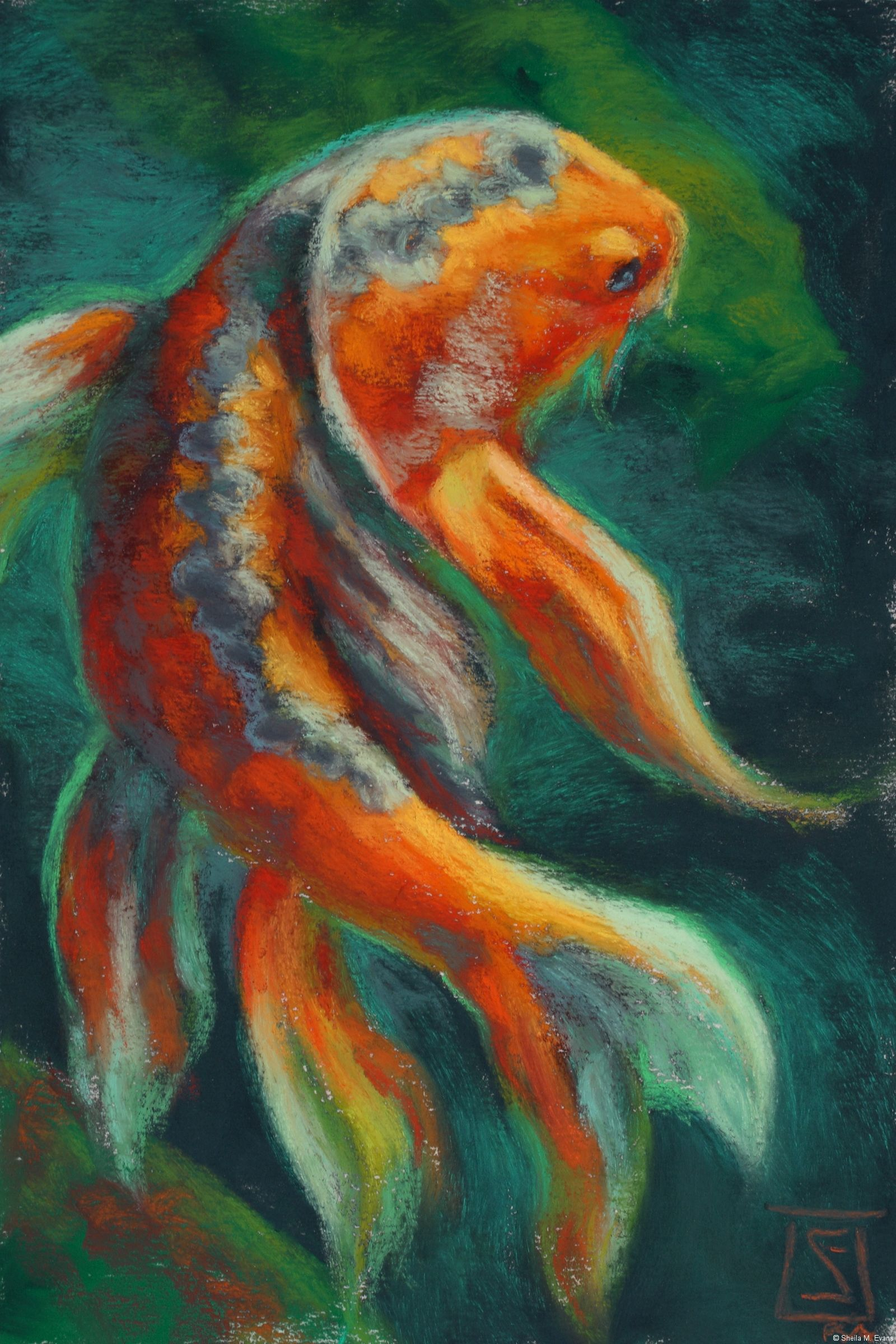 Art for the Animals : Sheila M. Evans donated Tango, the pastel ...