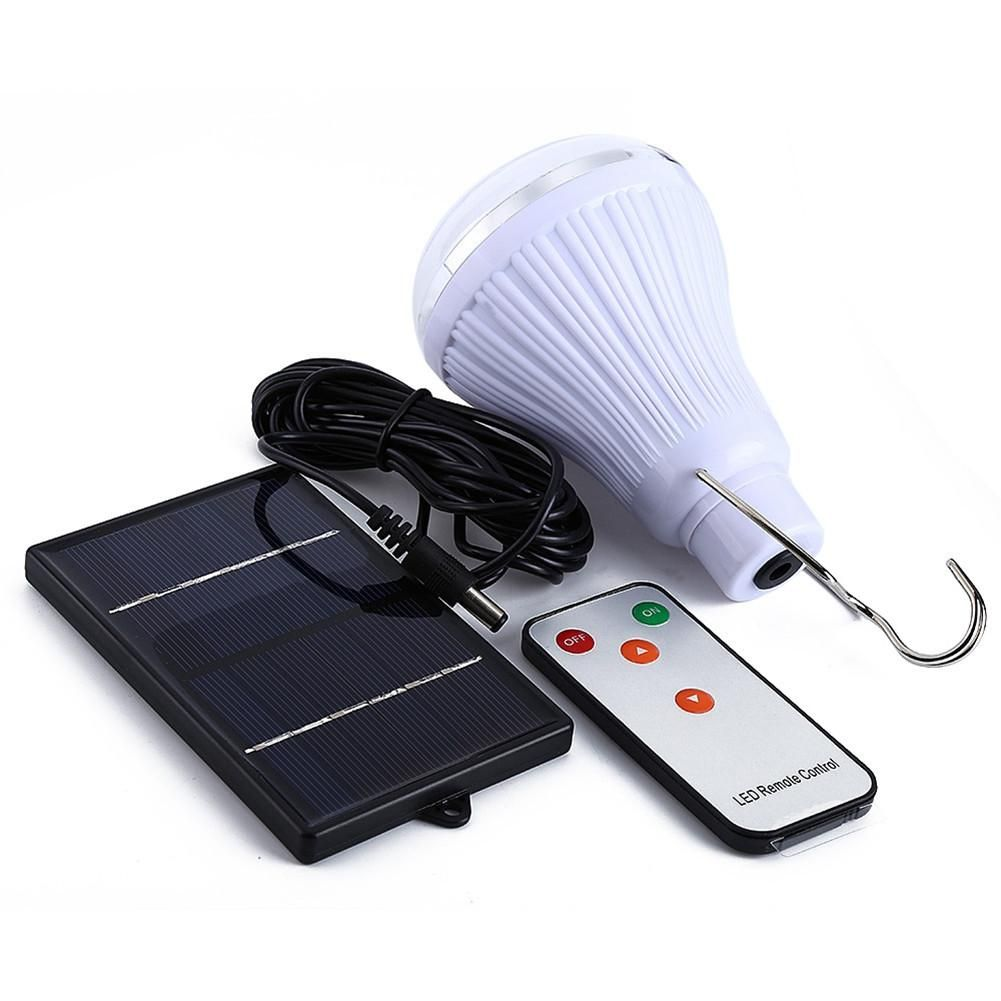 Solar bulb with remote control white light(internal contains 20 led bulbs)