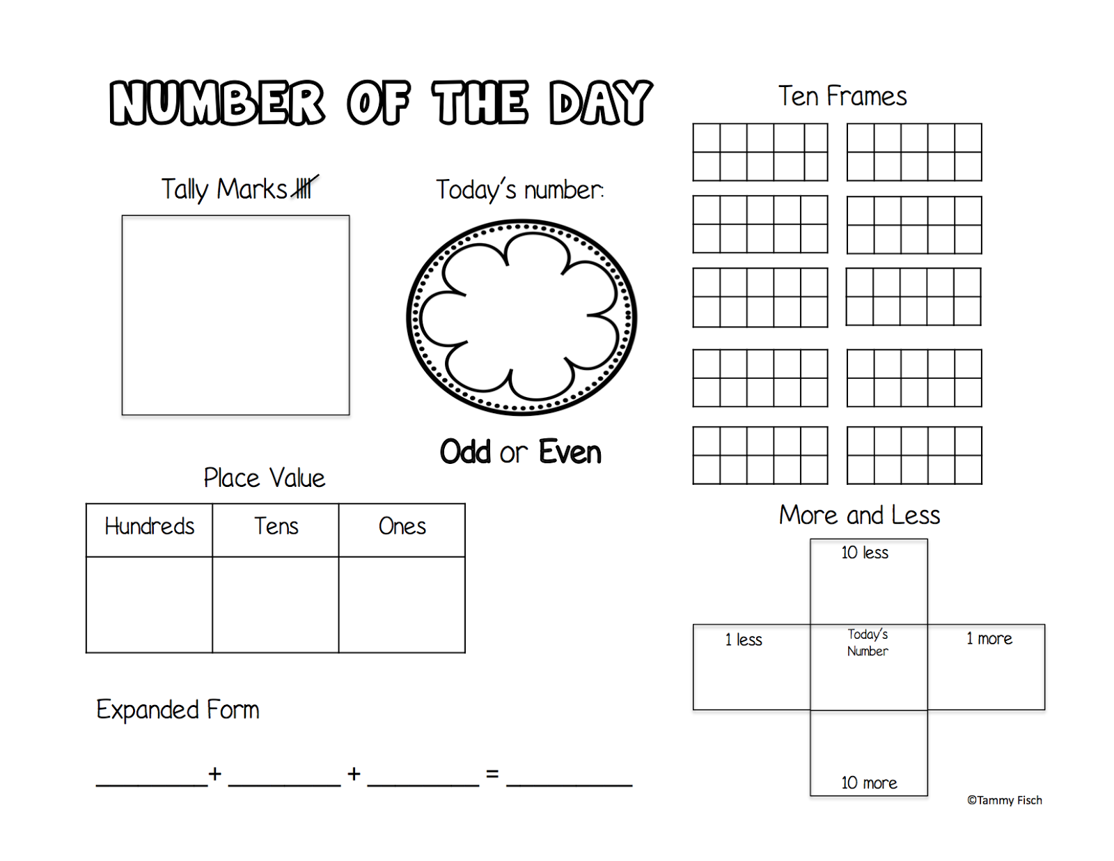 Free Printable: Number of the Day - The Learning Effect