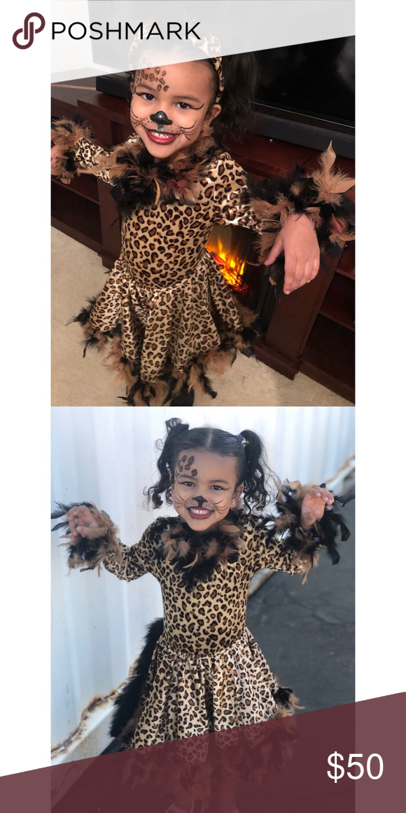 Leopard Costume for Girls Chasing Fireflies SIZE 10