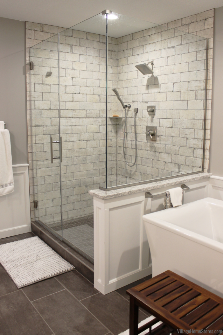 Bettendorf Bathroom Gets A Large Tiled Shower And Stylish Tub
