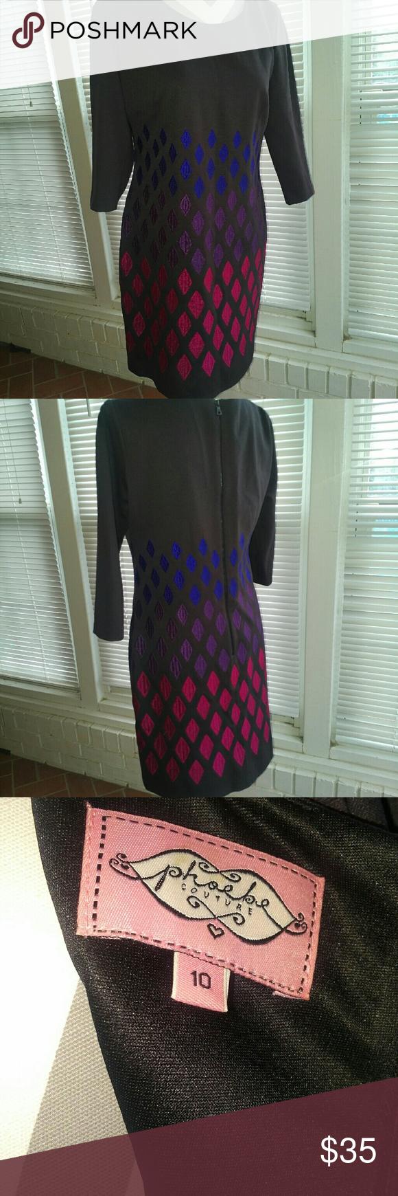 Phoebe Couture sheath dress Phoebe Couture sheath dress.  Excellent condition. Size 10 Phoebe Couture Dresses Midi