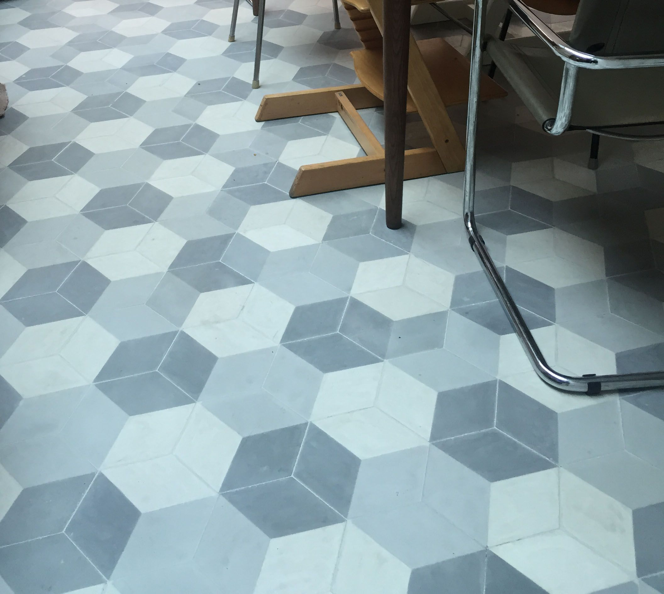 Our Hexagonal Geometric In Situ Using The Alternative Laying Pattern
