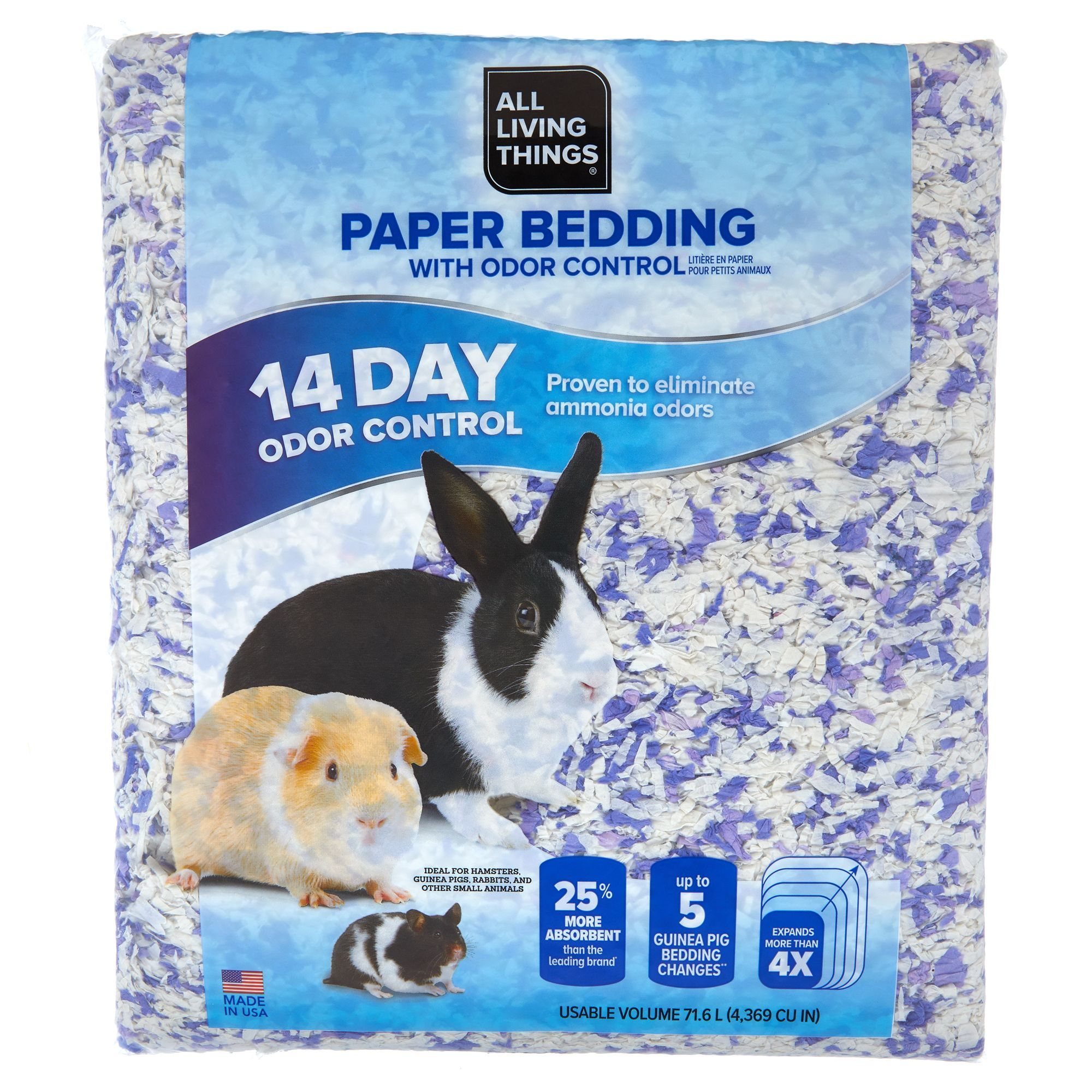 All Living Things Odor Control Small Pet Paper Bedding Size 71 6