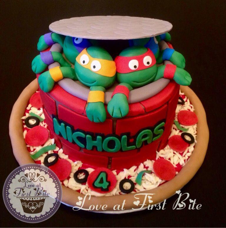 Teenage Mutant Ninja Turtles Cake By Love at First Bite in