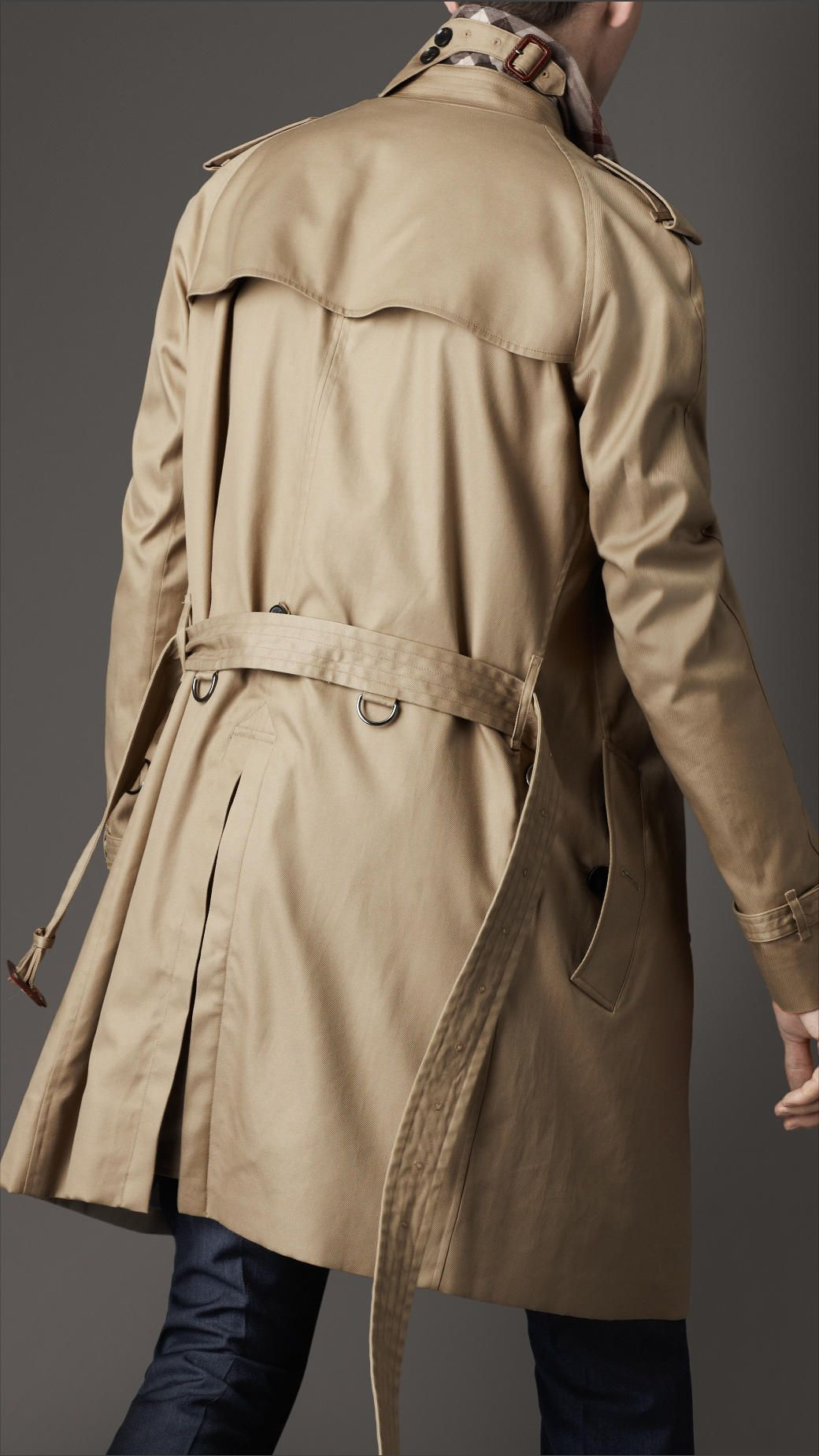 midlength cotton trench coat a classic - Burberry Raincoat