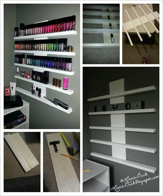 Lanie Buck Diy Craft Polish Or Nik Nak Rack Nail Salon Decor Home Nail Salon Diy Nail Polish