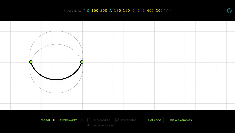 Wave maker based on SVG Arcs | SVG
