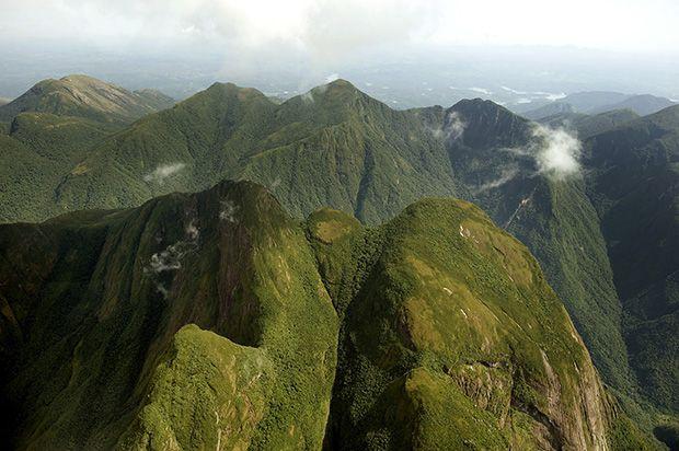 Picos que compõe a paisagem da Serra do Mar, no Litoral do Paraná (foto:  Denis Ferreira Netto   Parana, Parque estadual, Morretes pr