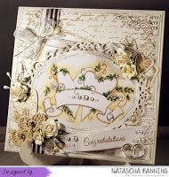 Hochzeitskarte ganz in weiß mit Magnolia Herzen: http://nataschas-blog.blogspot.de/2015/11/gastpost-fur-stampavie-and-more.html