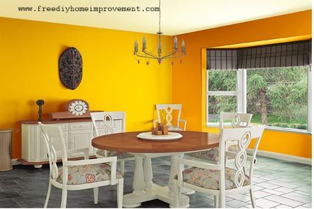 Home Interior Wall Paint Color Scheme with Yellow Color | Home ...