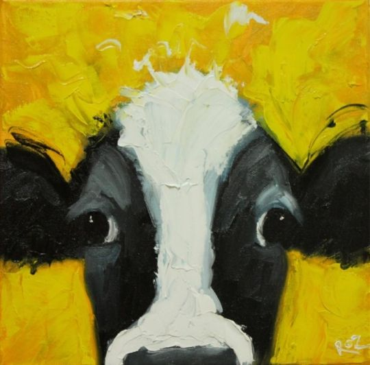 Cow art great for a kids room to paint pinterest for Oil painting for kids