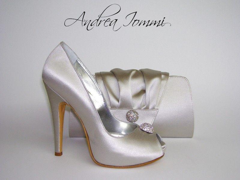 scarpe eleganti donna con borsa abbinata per matrimonio