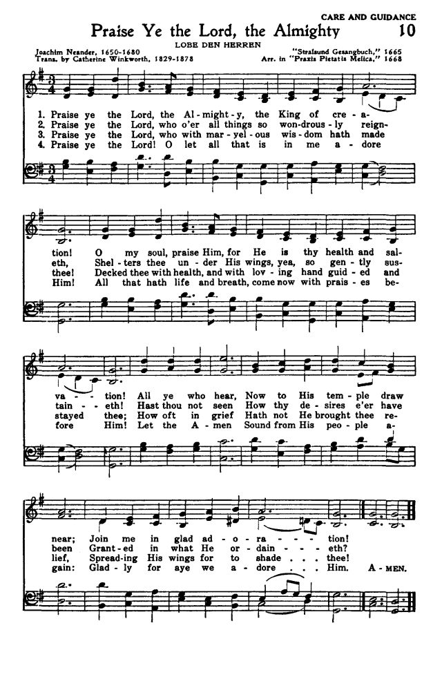 Lyric go tell it on the mountain hymn lyrics : Praise Ye the Lord, the Almighty | Healing Music | Pinterest ...