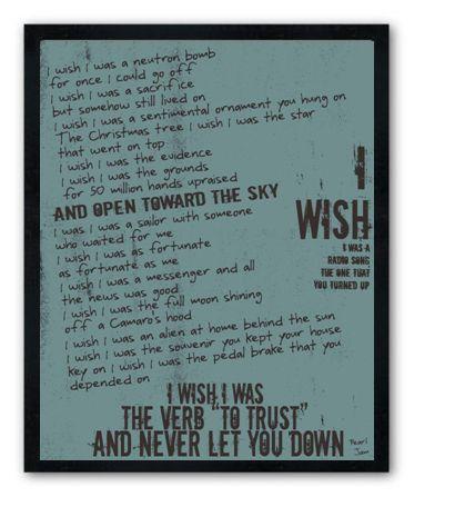 Wish List Pearl Jam Lyric 8 X10 Love This Gettin It A