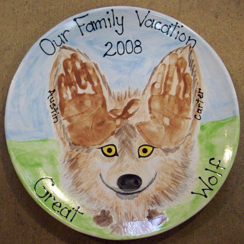 Great Wolf Handprints By Poke A Nose Pottery Http Www Pokeanosepottery Com Handprints Htm Wolf Craft Handprint Crafts Wolf Kids