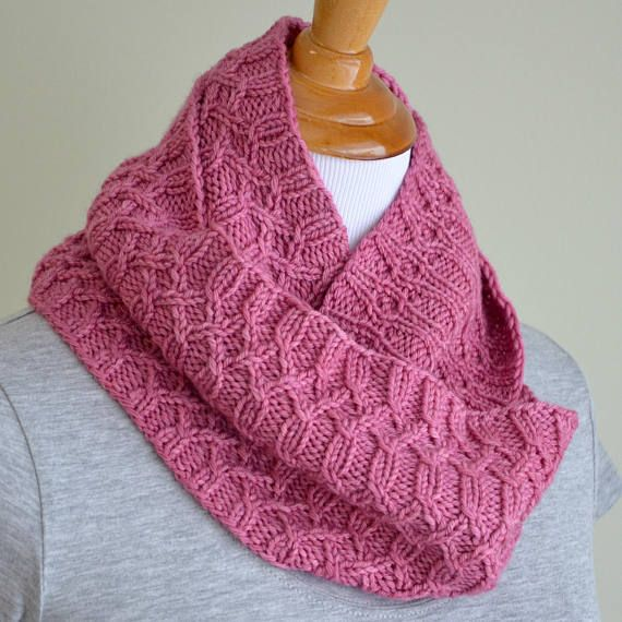 Infinity Scarf Knitting Pattern Infinity Cowl Cabled cowl ...