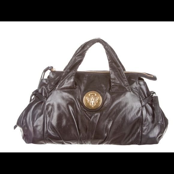 0c045e9d6b1 100% AUTHENTIC GUCCI HYSTERIA HANDLE BAG Black pleated soft leather Gucci  Hysteria handle bag with