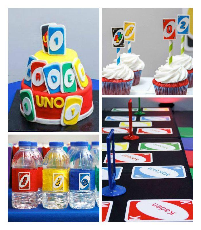 """uno"" themed first birthday party  boys 1st birthday"