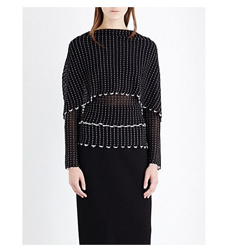 ROLAND MOURET Charp cape-effect stretch-knit top. #rolandmouret #cloth #