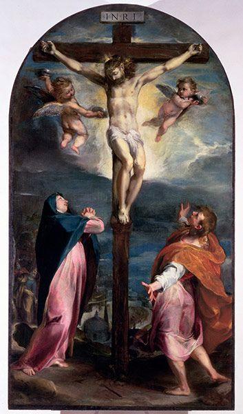 Federico Barocci - Crucifixion with the Virgin and Saint John the Evangelist (1556-57)
