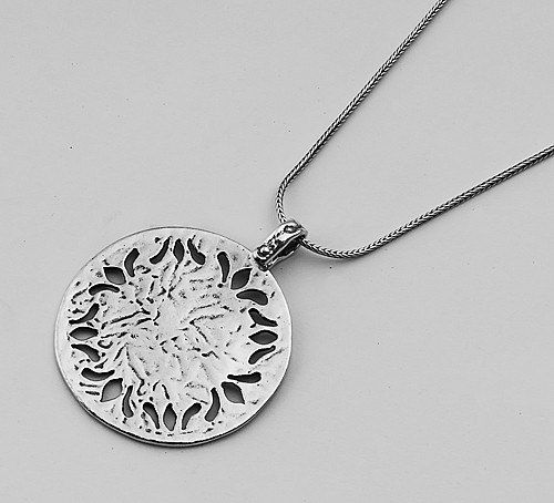 Sterling silver open lace frame pendant necklace necklace sterling silver open lace frame pendant necklace aloadofball Choice Image