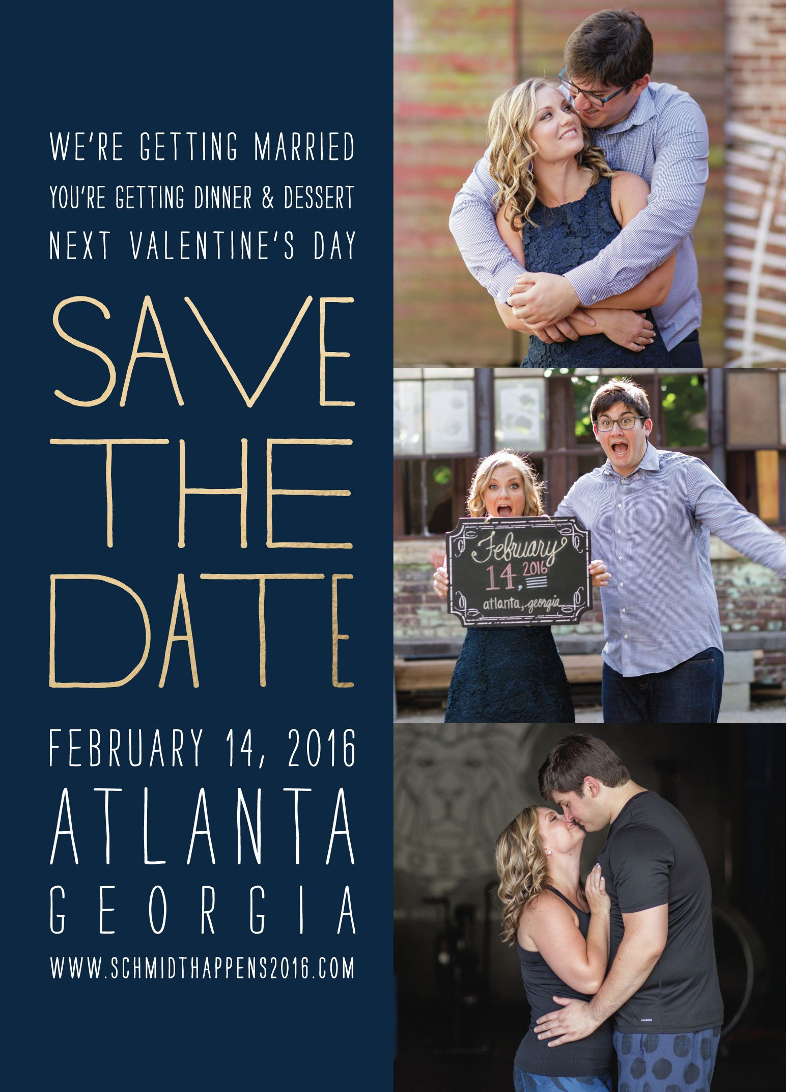 Custom Save the Date from Minted.com / Navy and Gold / Wedding Invitations