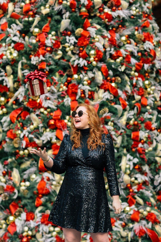 rockin' around the christmas tree | Photoshoot dress, Holiday photoshoot, New york christmas gifts