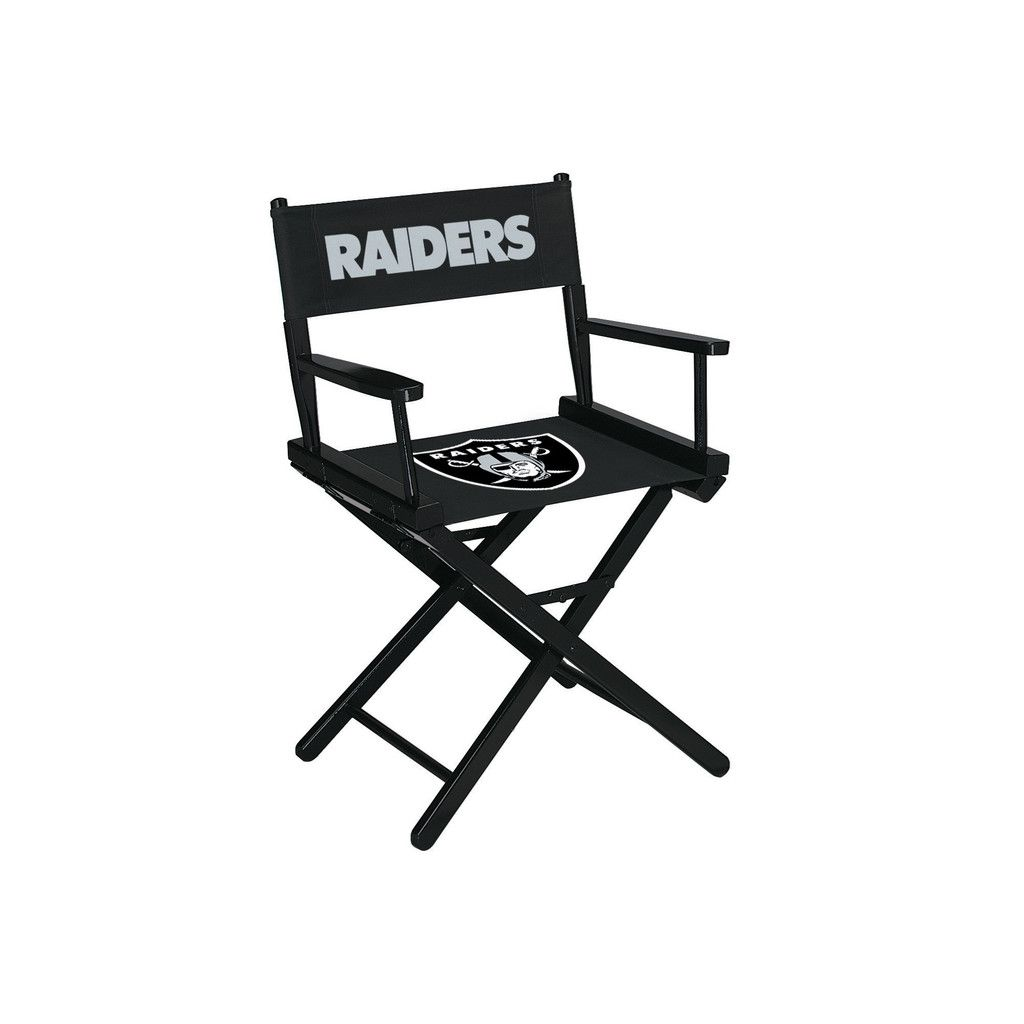 Gentil Directors Chair   Table Height   Oakland Raiders