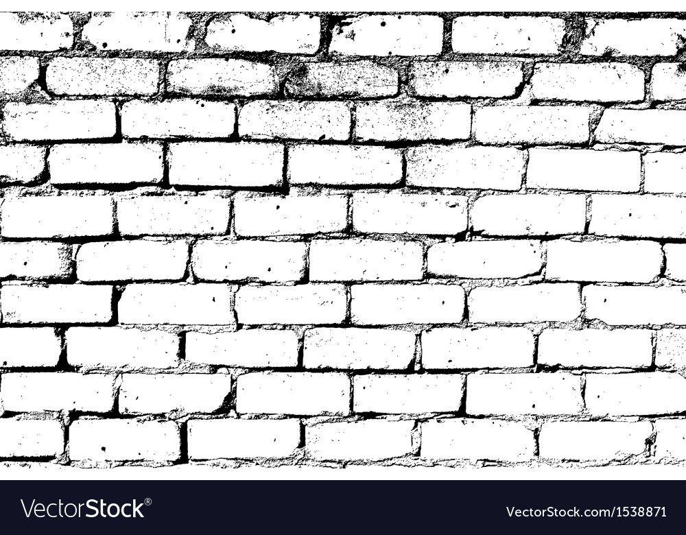 White Brick Wall Vector Image On Vectorstock Brick Wall Drawing Grafitti Wall Wall Drawing
