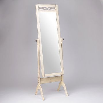 Antique White Cheval Floor Mirror Kirklands