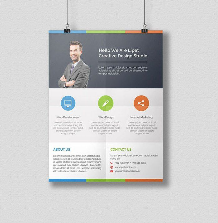 free clean corporate flyer psd ホームアイデア flyer template