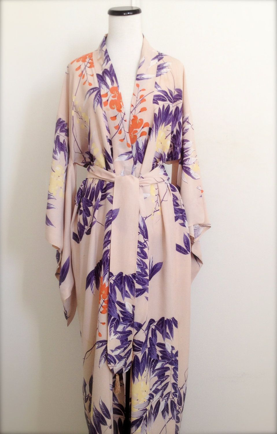 1930\'s Silk Crepe Dressing Gown/Kimono-Hollywood Glam | Silk crepe ...