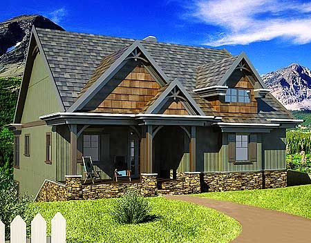 Plan 92322mx Vacation House Plan With 4 Bunks And 3 Bedrooms In 2021 Small Cottage House Plans Cottage House Plans Small Cottage Plans