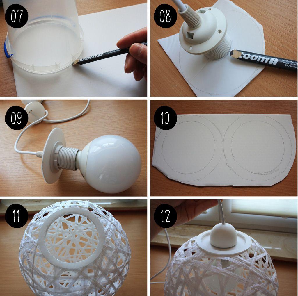 diy bast faden schnur lampe diy pinterest schnur faden und lampen. Black Bedroom Furniture Sets. Home Design Ideas