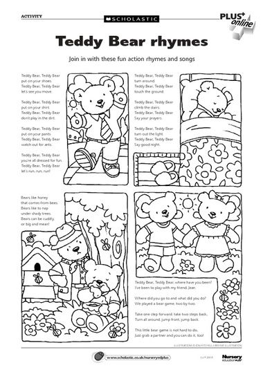 Free Teddy Bears downloadables from Scholastics. Thanks