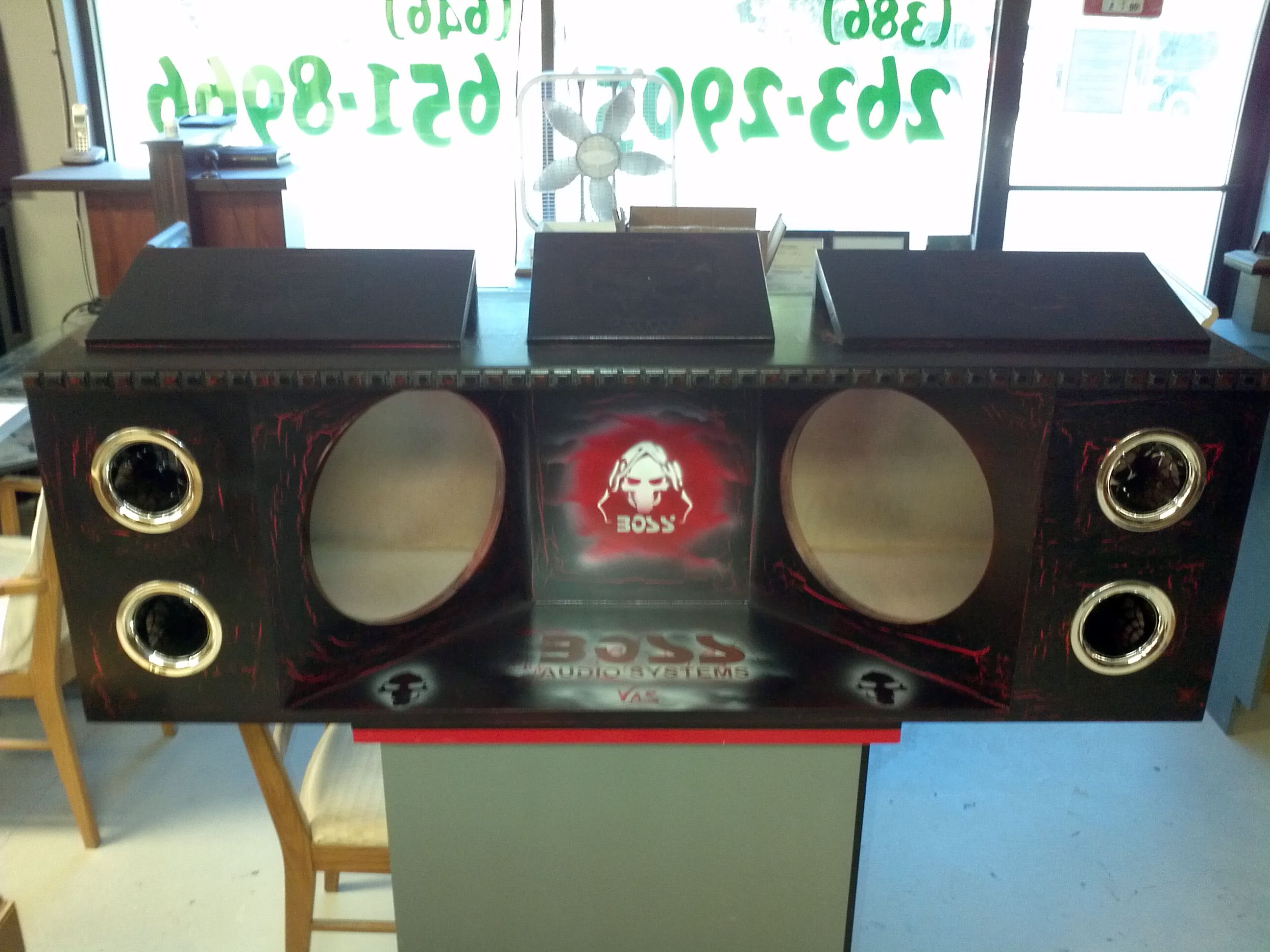 Custom Car Boom Box Speaker System. Air Brush Application