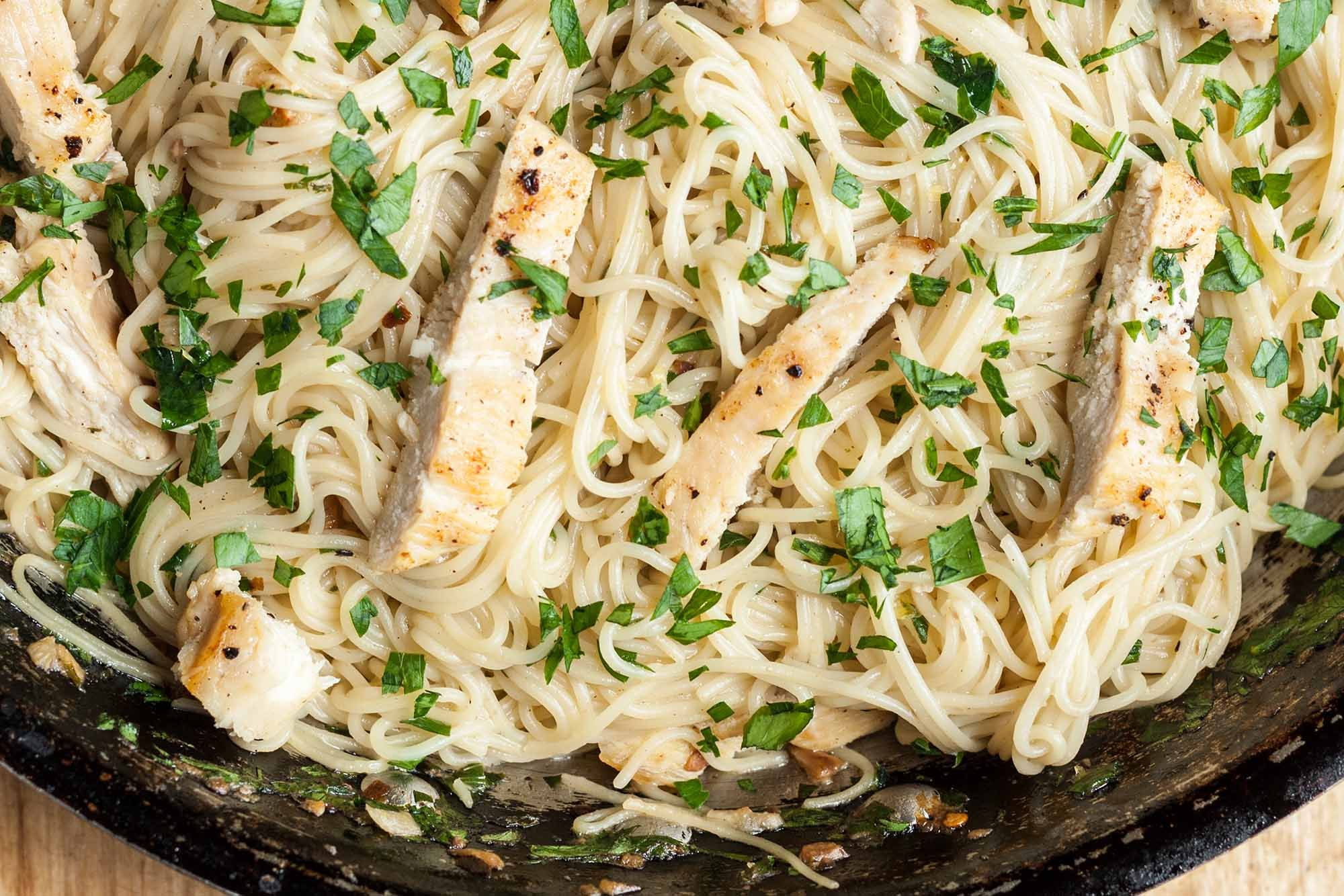 Chicken Scampi With Angel Hair Pasta Recipe Chicken Scampi Angel Hair Pasta Recipes Angel Hair Pasta Recipes Chicken