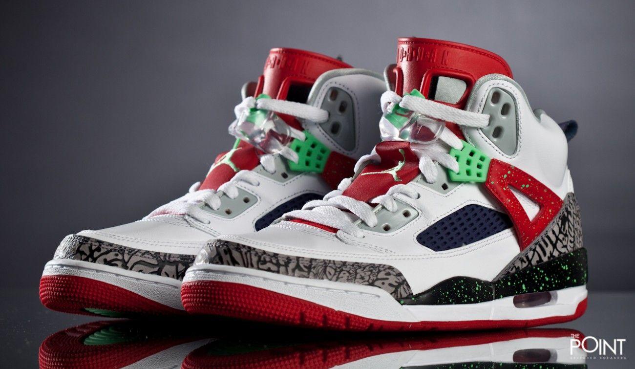 zapatillas air jordan spizike blanco rojo tenemos disponible ya para su venta el nuevo colorway