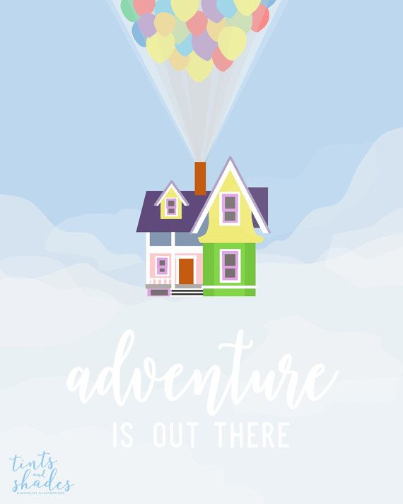 adventure is out there up quote mini st poster up mini st
