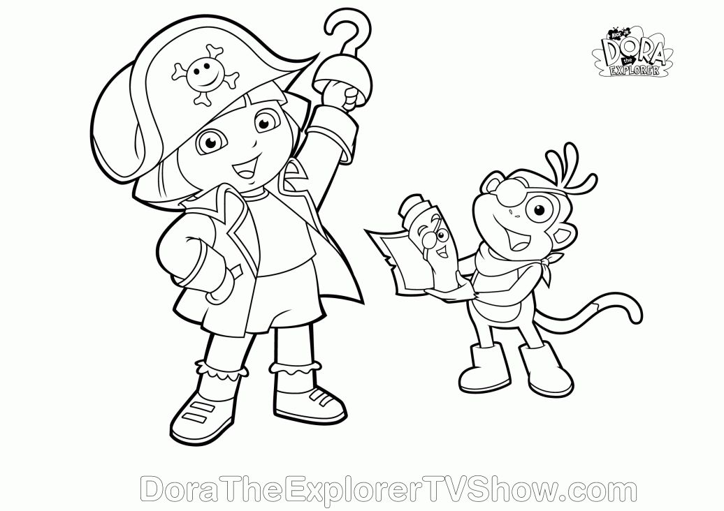 Dora And Diego Halloween Coloring Pages