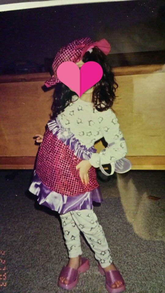 You may be sassy, but you'll never be a sassy as baby me.