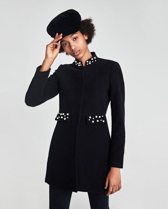 Veste Velours Longue De Zara Avec Perles 2 Simili Image D' En knOXwP80