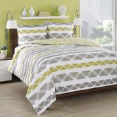 Found it at Wayfair - Orgami Stripe Duvet Cover Set