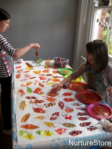 Fall leaf crafts :: autumn word tree #leafcrafts