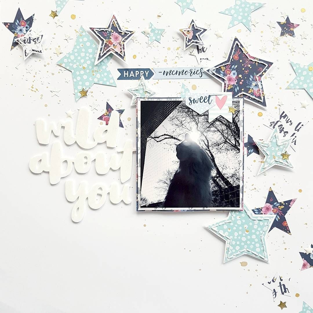 Full layout! A step-by-step tutorial for this layout is available in the @scrapbookwerkstatt inspiration gallery. Go check it out! #scrapbookwerkstatt #sbw #sbwdesignteam #papercraft #papercrafting #craft #crafting #diy #scrapbooklayout #patternedpaper #memorykeeping #wildatheart